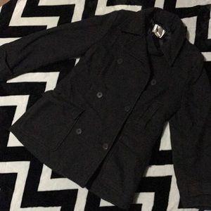 Gray/black peacoat